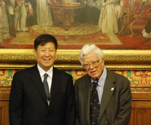 Lord Howe with Leng Rong (China Reform Forum)